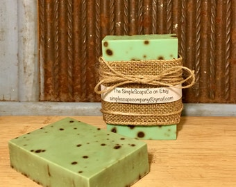 Mint Chocolate Chip Goats Milk Soap