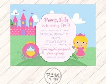 Princess Invitation, Princess Birthday Invitation, Castle Birthday Invitation, Princess Invitation Printable