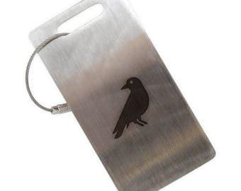 Blackbird Stainless Steel Luggage Tag