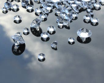 2600Pcs Mixed 3 Sizes(4mm/8mm/10mm) Clear Diamond Scatter Crystals