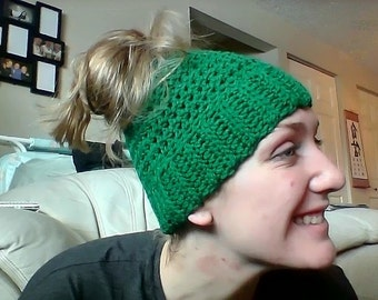 Simple Messy Bun Beanie