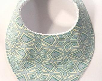 147. Handmade Baby Bandana Dribble Bib Mint Diamond Teething Drool bibs