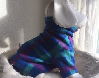 Pet Fleece Shirt - Preppy Purple & Blue