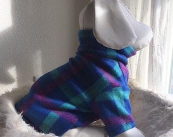 Pet Fleece Shirt - Preppy Purple & Blue