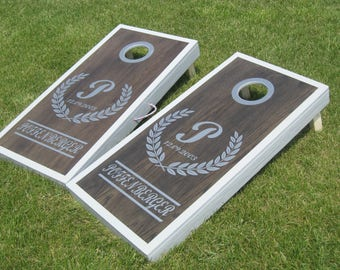 His and Her Buck and Doe Custom Cornhole Regulation Size