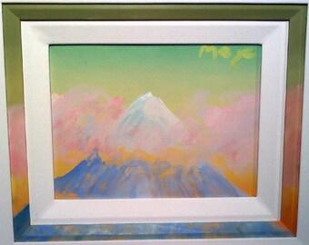 """Peter Max """"Mountain"""" original"""