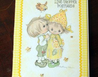 Vintage Hallmark Betsey Clark Line-Dropper Postcards-Postcard Booklet-Vintage Postcards-Yellow-125ST973