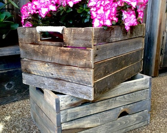 Wooden garden storage Crates