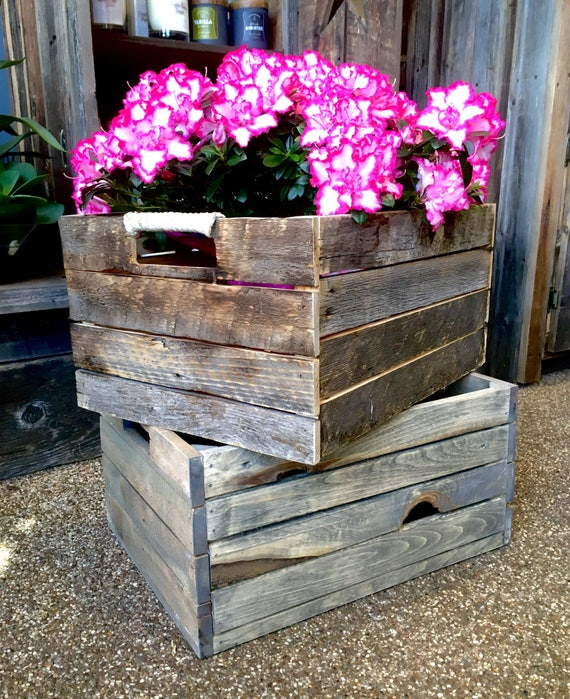 Wooden garden storage Crates