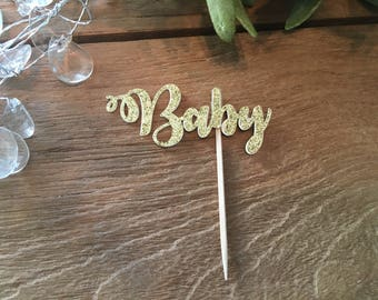 Baby Cupcake Toppers, Baby Shower Cupcake Toppers,