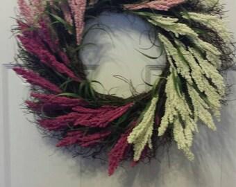 Spring wreath / front door wreath / door wreath / holiday wreath / spiral vine flowers wreath/summer wreath