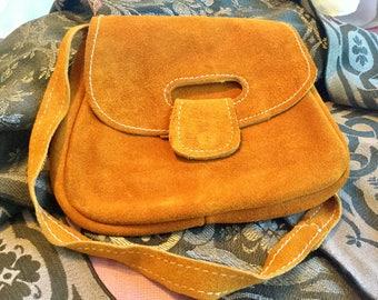 Vintage suede leather purse