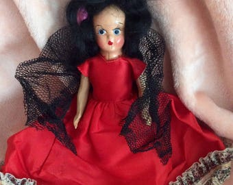 Vintage Spanish composition doll