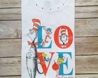 LOVE...Dr. Seuss Day white shirt