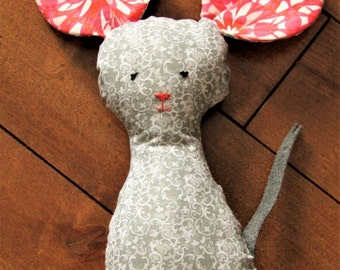 Pretty Plushie Pretty Mousie Toy; Plush Animal; Stuffed Mouse; Grey Mouse; Adorable Stuffed Mouse