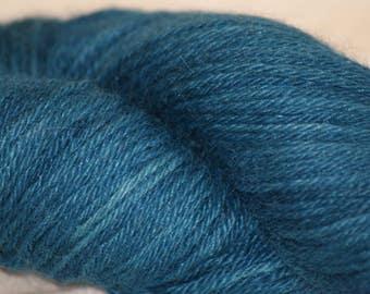 "Alpaca/ Silk DK Hand-dyed Yarn ""Mallard"""