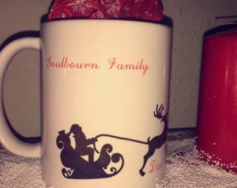 Personalised Christmas Family Sleigh Mug