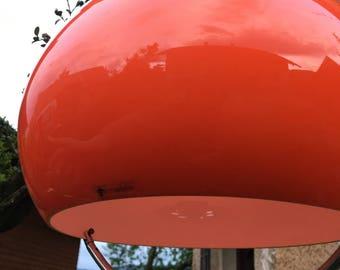 NOS Adjustable Guzzini Ceiling Light // Space Age Pendant Lamp // Mid Century Design Lamp // Orange // 70s Retro Home Decor // Meblo Guzzini