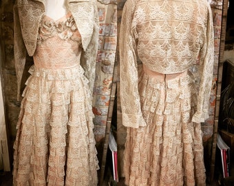 Beautiful 1950s Lace Dress & Bolero