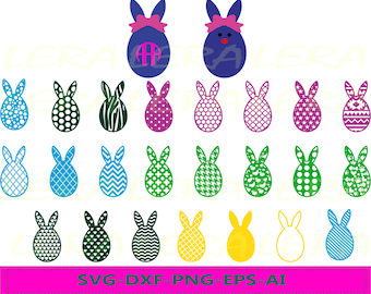 60 % OFF, Easter SVG, Easter Bunny svg, Easter Egg svg, Easter Cut Files svg, dxf, ai, eps, png, Rabbits Svg, Cut files for Cricut