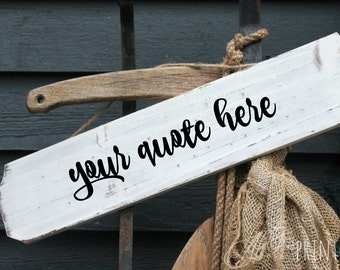 Rustic Wood Customized Hand Lettered Sign