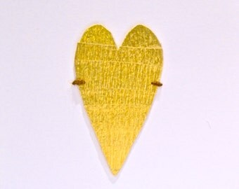 Golden Heart Love Card