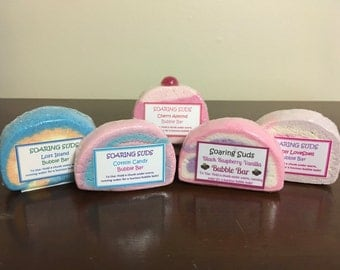 4 Bubble Bars for 20 Dollars!  You Choose Bubble Bath Bar, Solid Bubble Bath, Bubbly Bath Bar