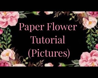 Paper Flower Tutorial (Slideshow of Pictures & Instructions)