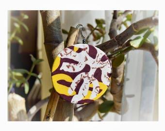 African Wax Print Earrings | Ethnic, Fabric, Ankara print, Kente, Kitenge | vibrant light-weight discs | made in Kenya, Africa