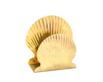 Brass shell napkin holder