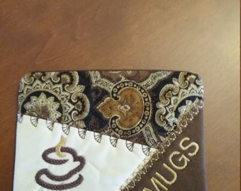 Embroidered  Asst Mug Rug or Coasters for all occasions