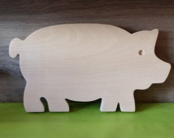 Chopping Board in beech wood in the form of pig