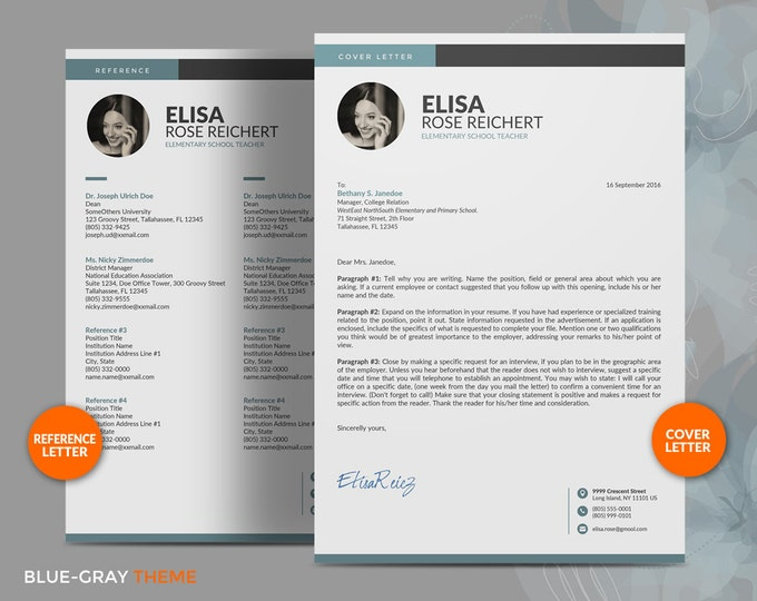 50% OFF coupon on Resume Template / CV Template for Teacher ...