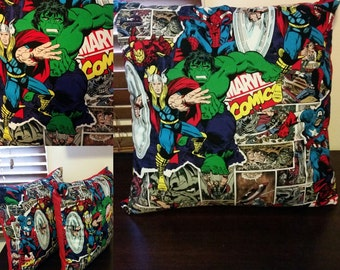 Kids cushion cover - Marvel red, Marvel maroon, Spiderman or Captain America