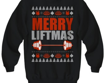 Merry Liftmas, Christmas Sweater, Ugly Christmas Sweater, Fitness Gifts