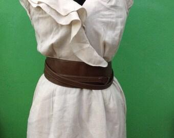 Mini dress. Linen dress. Sisley dress.