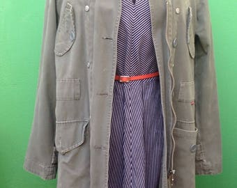 North Down Trench Coat. Winter/Sprint trench. Trench coat removable lining. Vintage Trench.