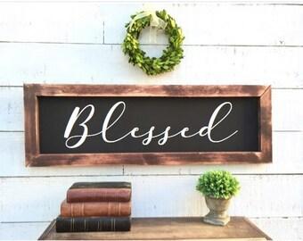 Blessed framed chalkboard, rustic home decor