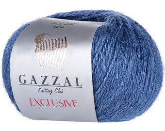 Gazzal EXCLUSIVE Blend mohair soft yarn color choice hand knit yarn Mohair yarn silk yarn merino wool yarn kid mohair yarn