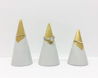 Concrete Ring Cones - Set of 3