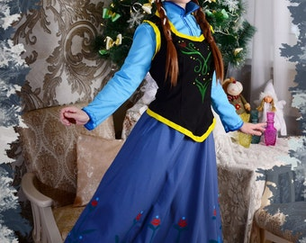 Anna Cosplay; Elza; Frozen; Disney Cosplay; Dress; Costume; Princess