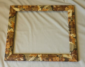 Camouflage Picture Frame, Hunting photo frame, includes mat and glass