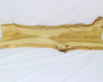 Custom Spalted Honey Locust Natural Edge Shelf with matching natural edge back