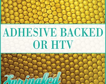 Honeycomb Pattern #1 Adhesive or HTV Heat Transfer Vinyl for Shirts Crafts and More!