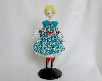 doll cloth doll art doll Fashion doll interior doll handmade doll textile doll ballet doll fabric doll
