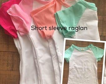 Girls short sleeve raglan