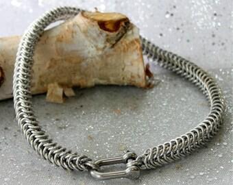 Choker - statement choker - thick choker - collar - chainmail collar - collar for her - collar for him - Gift For Her - BDSM collar