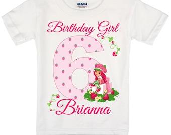 Strawberry Shortcake Birthday Shirt Peronalized