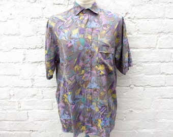 80's summer shirt, vintage print, menswear fashion
