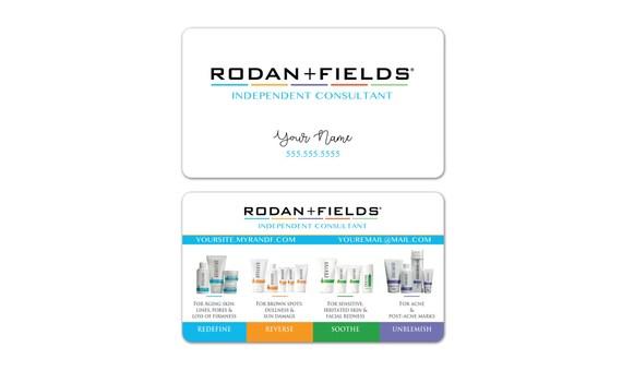 Rodan Fields Business Cards WHITE